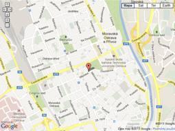 Mapa okrášlených míst na větší mapě