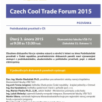 Diskusní Czech Cool Trade Forum 2015 na VŠB