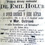 28. březen 1881 - slavný cestovatel Emil Holub přednášel v hostinci U hroznu