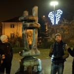 Fotoreport: Ostravou magickou - procházka a křest pohlednic Ostravské sochy a zimního čísla bulletinu Krásná Ostrava