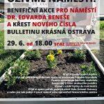 Oživme náměstí! Benefice pro náměstí Beneše v centru Ostravy, 29.6.