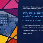 Zářijová výstava ostravského archivu ve foyer radnice - Století plné zvratů aneb Ostrava ve 20. století