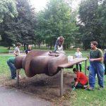 Slavnostní odhalení opravených soch Jogín a Sluneční brána a komentovaná prohlídka